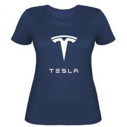 Женская футболка Tesla Logo - FatLine