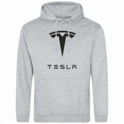 Мужская толстовка Tesla Logo