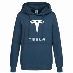 Женская толстовка Tesla Logo