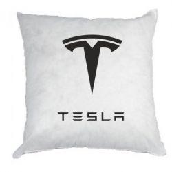 Подушка Tesla Logo