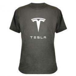 Камуфляжная футболка Tesla Logo - FatLine