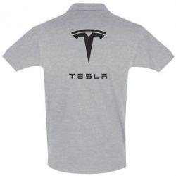Футболка Поло Tesla Logo - FatLine
