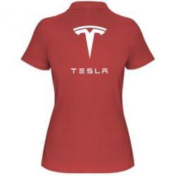 Женская футболка поло Tesla Logo - FatLine