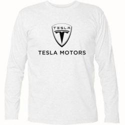 Футболка с длинным рукавом Tesla Motors - FatLine