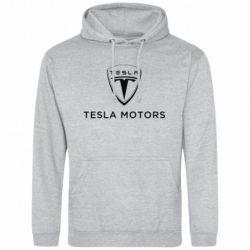 Мужская толстовка Tesla Motors - FatLine