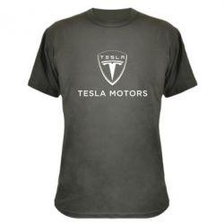 Камуфляжная футболка Tesla Motors - FatLine