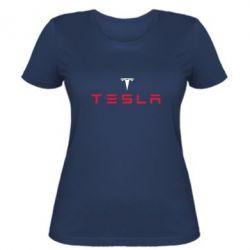 Женская футболка Tesla - FatLine