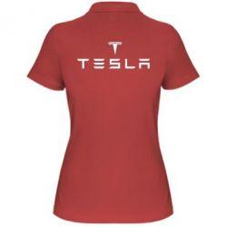 Женская футболка поло Tesla - FatLine