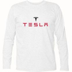 Футболка с длинным рукавом Tesla - FatLine