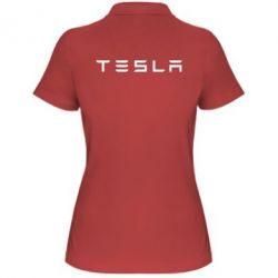Женская футболка поло Тесла