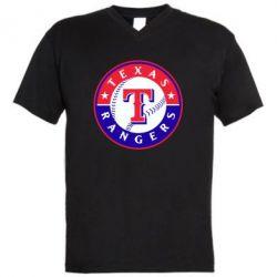 Мужская футболка  с V-образным вырезом Texas Rangers - FatLine