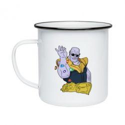 Кружка емальована Thanos Art
