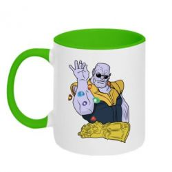 Кружка двоколірна 320ml Thanos Art