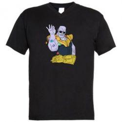 Чоловіча футболка з V-подібним вирізом Thanos Art