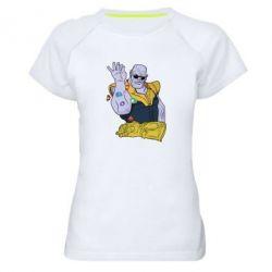 Жіноча спортивна футболка Thanos Art