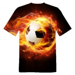 Футболка The ball is on fire3D