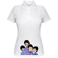 Женская футболка поло The Beatles - FatLine