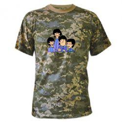 Камуфляжная футболка The Beatles - FatLine