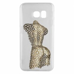 Чехол для Samsung S6 EDGE The body of a girl from the grommets