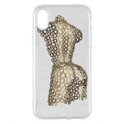 Чехол для iPhone X/Xs The body of a girl from the grommets