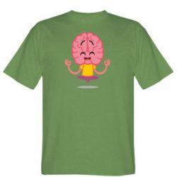 Чоловіча футболка The brain meditates