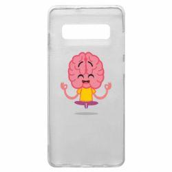 Чохол для Samsung S10+ The brain meditates