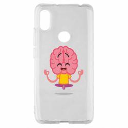 Чехол для Xiaomi Redmi S2 The brain meditates