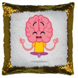 Подушка-хамелеон The brain meditates