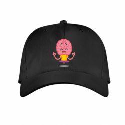 Дитяча кепка The brain meditates