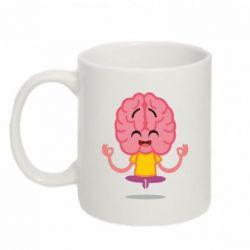 Кружка 320ml The brain meditates
