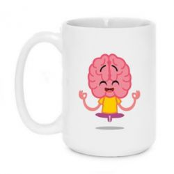 Кружка 420ml The brain meditates
