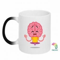 Кружка-хамелеон The brain meditates