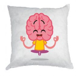 Подушка The brain meditates