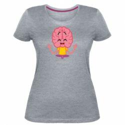 Жіноча стрейчева футболка The brain meditates