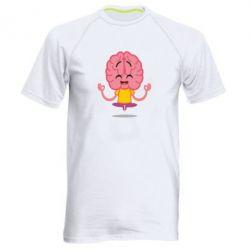 Чоловіча спортивна футболка The brain meditates