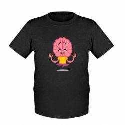 Дитяча футболка The brain meditates