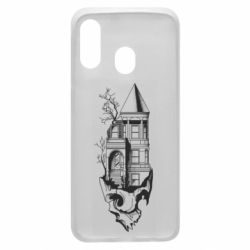 Чохол для Samsung A40 The castle is on the skull