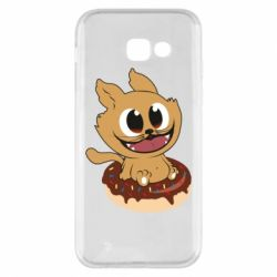 Чохол для Samsung A5 2017 The cat is sitting on a donut
