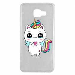 Чохол для Samsung A7 2016 The cat is unicorn