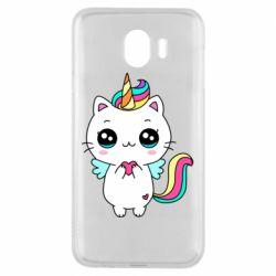 Чохол для Samsung J4 The cat is unicorn