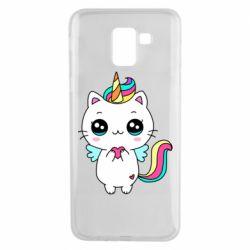Чохол для Samsung J6 The cat is unicorn