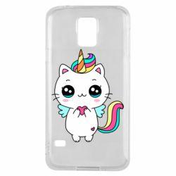 Чохол для Samsung S5 The cat is unicorn