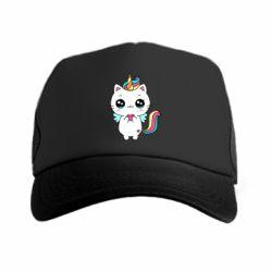 Кепка-тракер The cat is unicorn