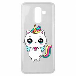Чохол для Samsung J8 2018 The cat is unicorn