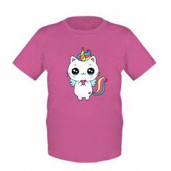 Дитяча футболка The cat is unicorn