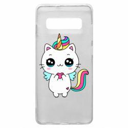 Чохол для Samsung S10+ The cat is unicorn