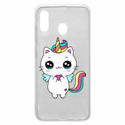 Чохол для Samsung A20 The cat is unicorn