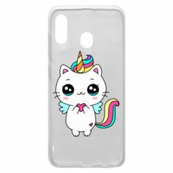 Чохол для Samsung A30 The cat is unicorn