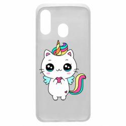 Чохол для Samsung A40 The cat is unicorn