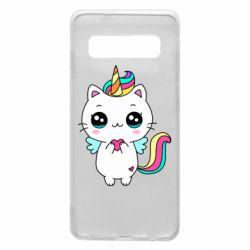 Чохол для Samsung S10 The cat is unicorn